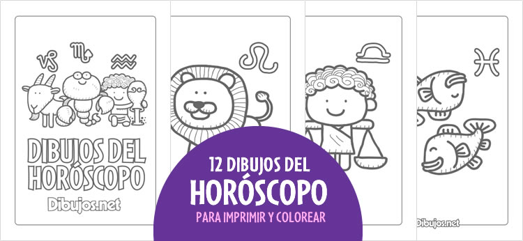 12 Dibujos del Horóscopo para Imprimir y colorear