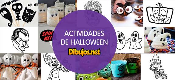 Celebra Halloween con las propuestas de actividades de Dibujos.net