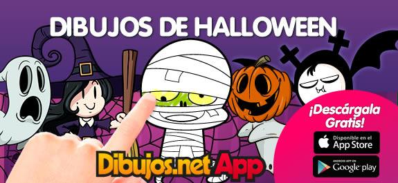 Celebramos Halloween con la App para colorear de Dibujos.net