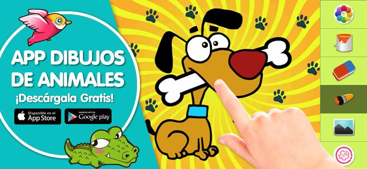 Colorea en tu móvil o tablet con la App de Dibujos de Animales de Dibujos.net