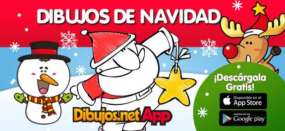 ¡Colorea la Navidad desde tu Móvil o Tablet con la App de Dibujos de Navidad de Dibujos.net!