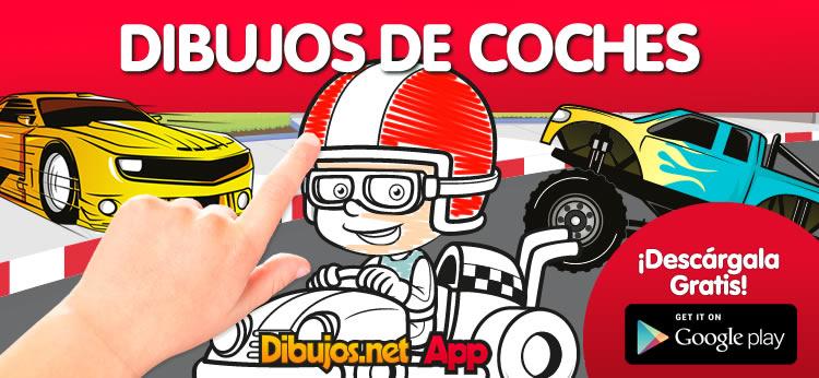 Descarga la nueva App para Colorear Dibujos de Coches de Dibujos.net