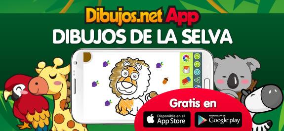 ¡Dibujos.net ya está en tu móvil! Te presentamos la nueva App de Dibujos de la Selva