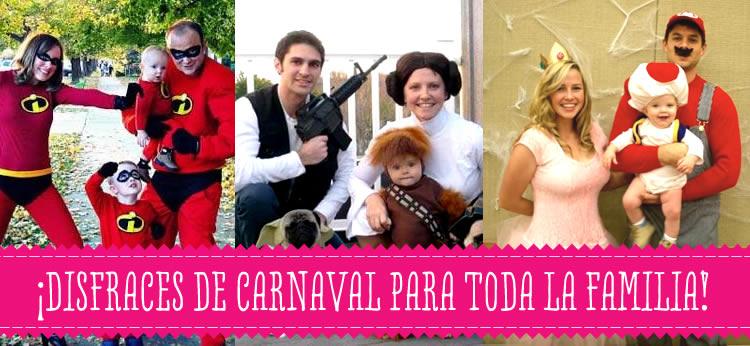 Disfraces de carnaval para toda la familia