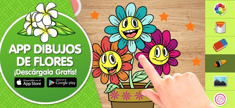 Nueva App para colorear Dibujos de Flores de Dibujos.net