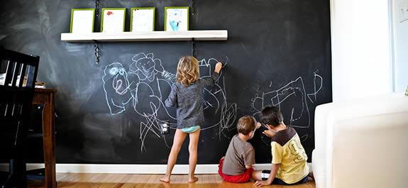 Pintura de pizarra para paredes divertidas - Pinturas especiales para paredes ...