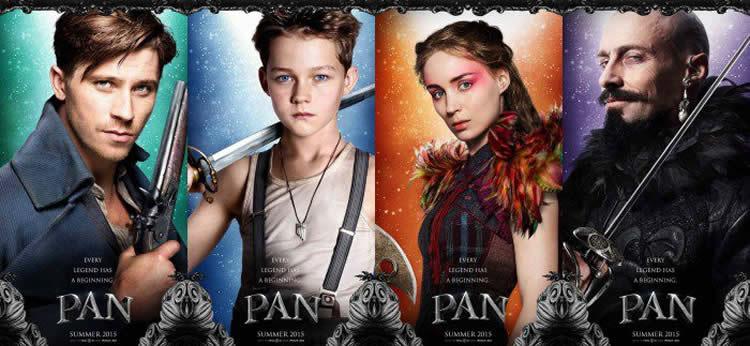 Primeros carteles de la película Pan: Viaje a Nunca Jamás