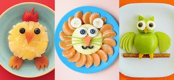 Recetas divertidas de fruta para niños