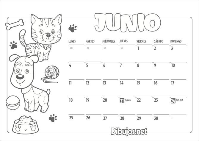 Calendario Infantil 2018 Para Imprimir Y Colorear Dibujosnet