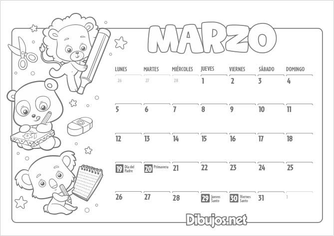 Calendario infantil 2018 para imprimir y colorear dibujos imprimir mes de febrero del calendario infantil 2018 para colorear thecheapjerseys Image collections