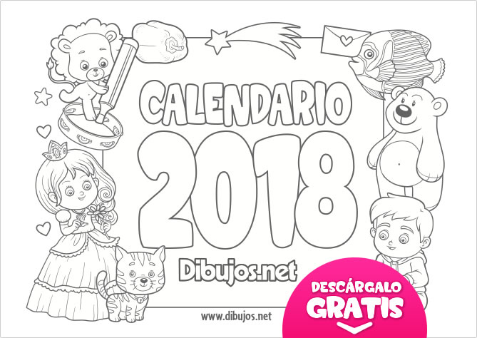 2018 para colorear - Gecce.tackletarts.co