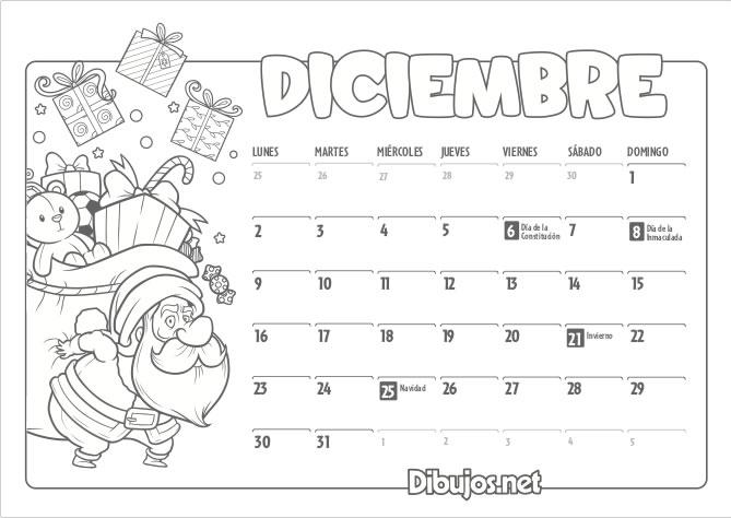 Calendario Mes De Octubre 2020 Para Imprimir.Calendario Infantil 2019 Para Imprimir Y Colorear Dibujos Net