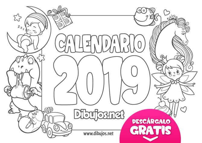 Calendario De Septiembre 2019 Para Imprimir Animado.Calendario Infantil 2018 Para Imprimir Y Colorear Dibujos Net