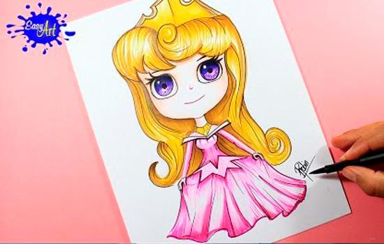 10 Dibujos Para Colorear De Disney Princesas Bebes: 10 Tutoriales Para Dibujar Princesas Disney