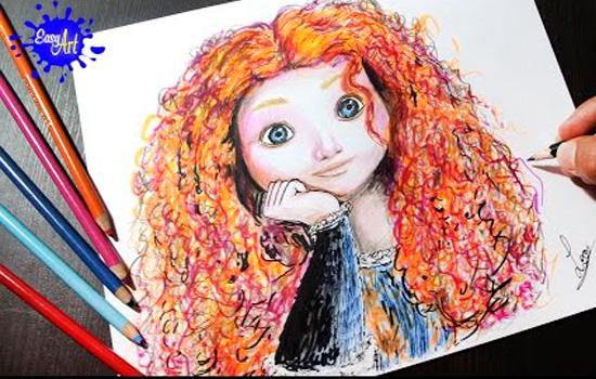 Dibujos En Color De Disney: 10 Tutoriales Para Dibujar Princesas Disney