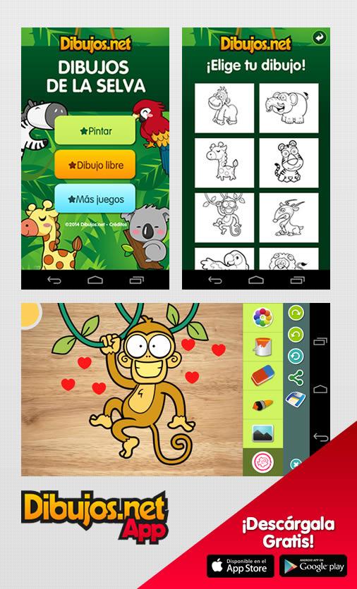 App Dibujos de la selva