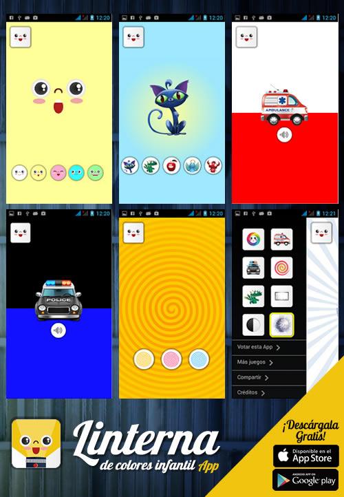 App Linterna Mágica de Colores Infantil