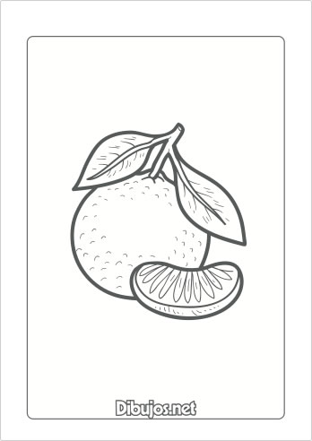 10 Dibujos de frutas para imprimir y colorear - Dibujos.net