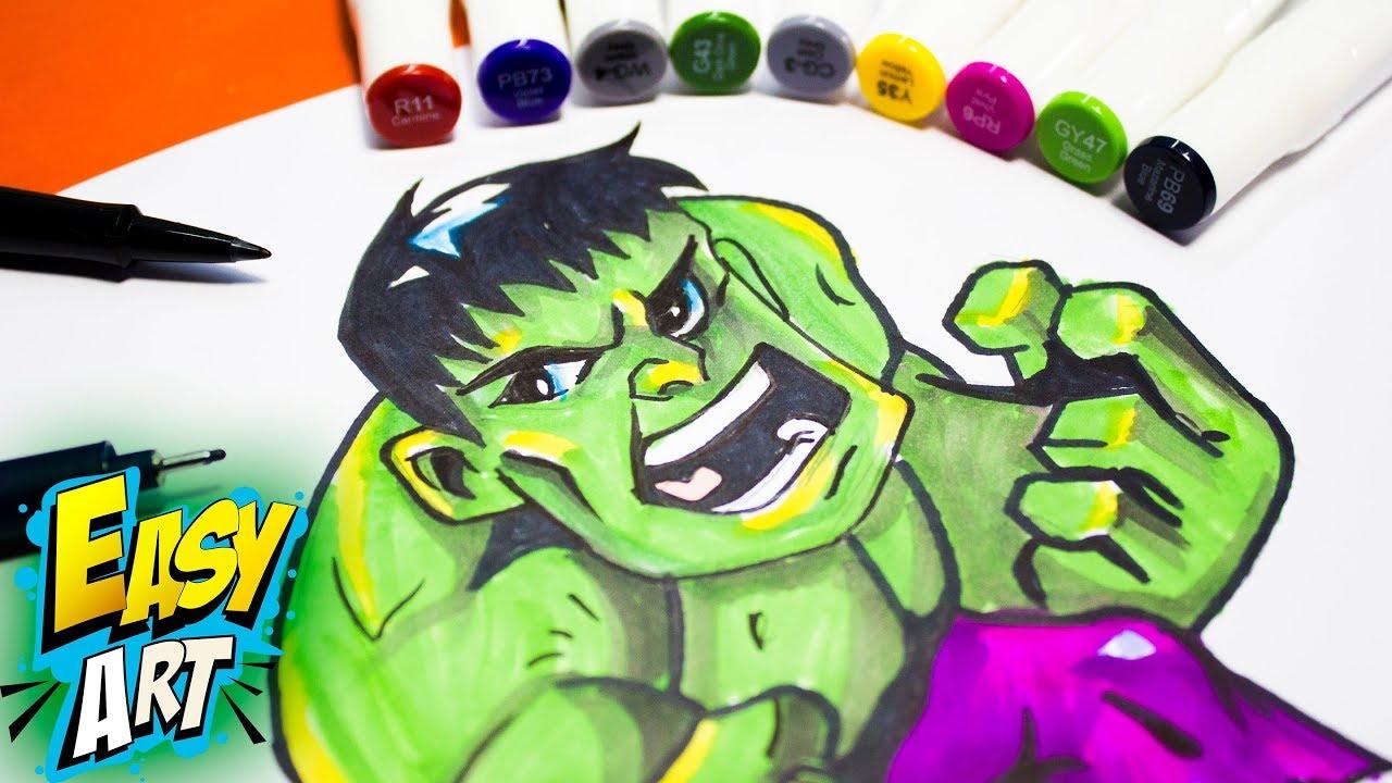 Hulk Para Colorear Facil: Resultado De Imagen De Dibujos Kawaii Para Dibujar Faciles Art