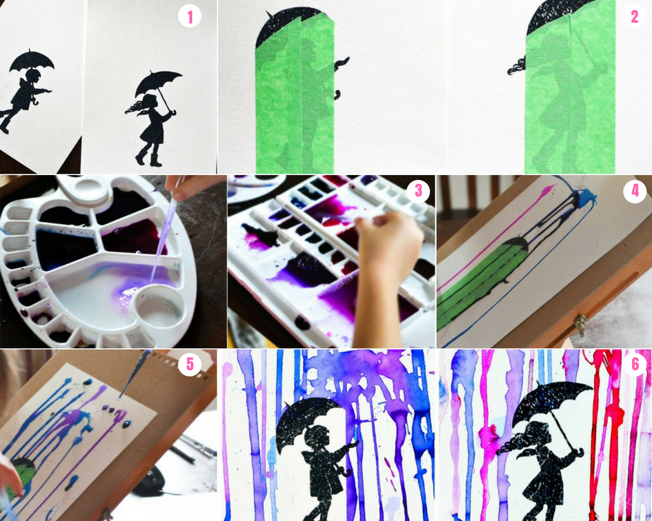 Dibujos Con Colores Para Pintar: Lluvia De Pintura Con Acuarelas