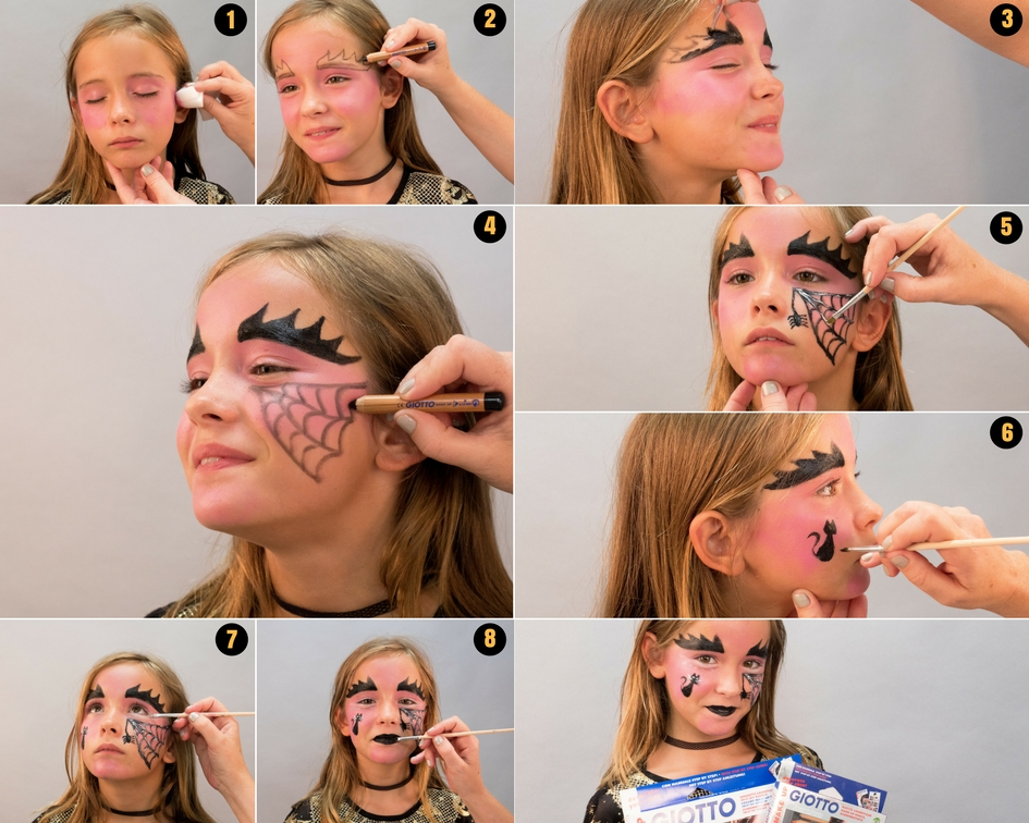 Maquillaje Para Halloween Bruja Con Giotto Make Up Dibujosnet - Maquillaje-bruja-infantil