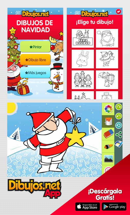 App para colorear dibujos de Navidad