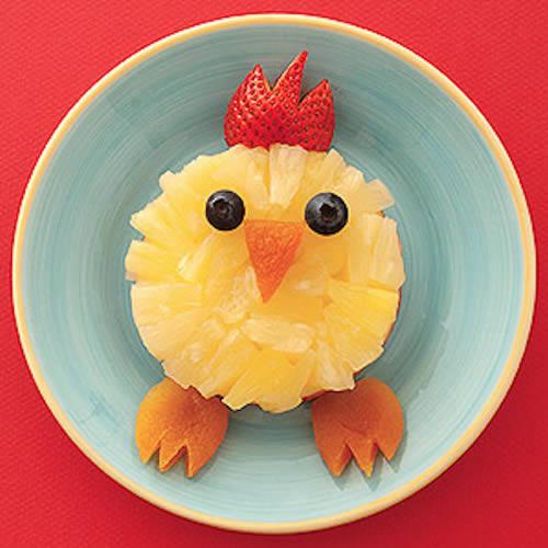 Pollito de piña en almíbar