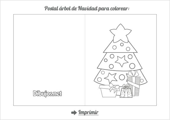 5 postales de Navidad para imprimir y colorear - Dibujos.net