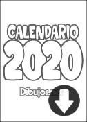 Calendario 2020 para imprimir y colorear