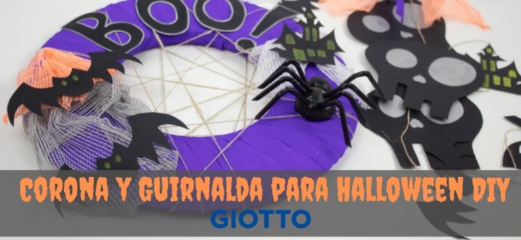 Corona y guirnalda para Halloween DIY
