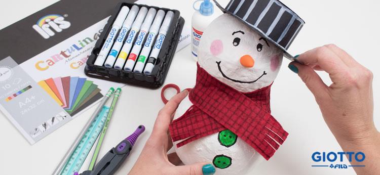 Creamos un muñeco de nieve decorativo muy original