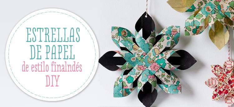 Estrellas de Navidad de papel DIY