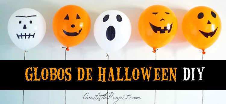 Globos de Halloween DIY