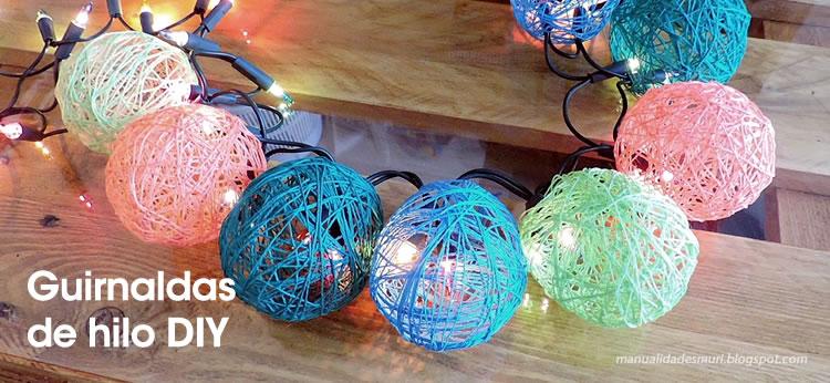 Guirnaldas de luces con hilo DIY