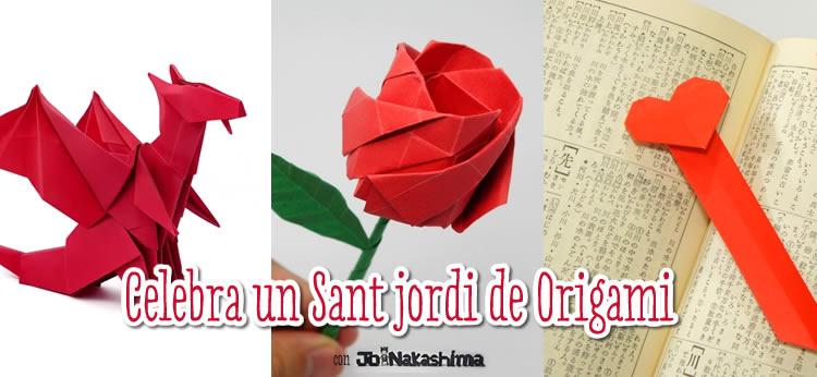 Hacemos una rosa, un punto del libro y un dragón de papel con Origami