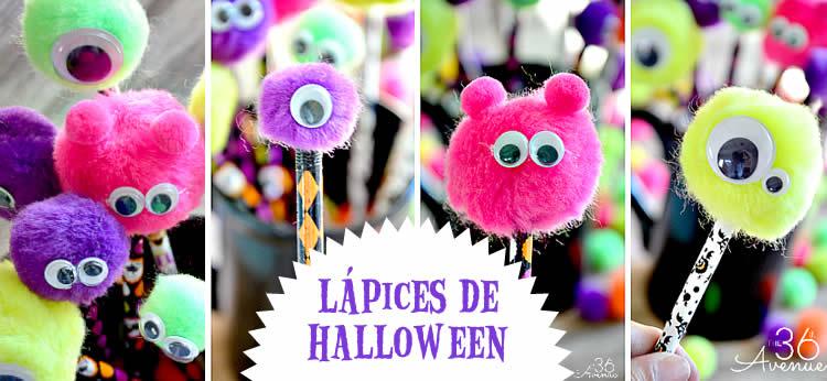 Lápices decorados para Halloween