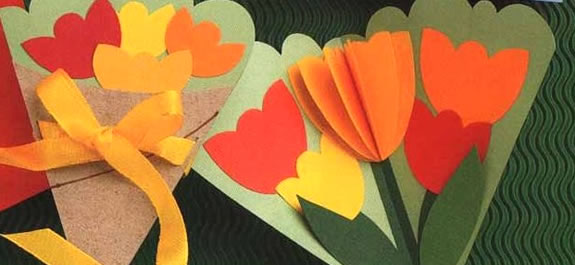 Manualidades: Una postal muy floral para el Día de la Madre