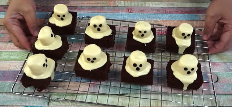 Brownie fantasma para Halloween
