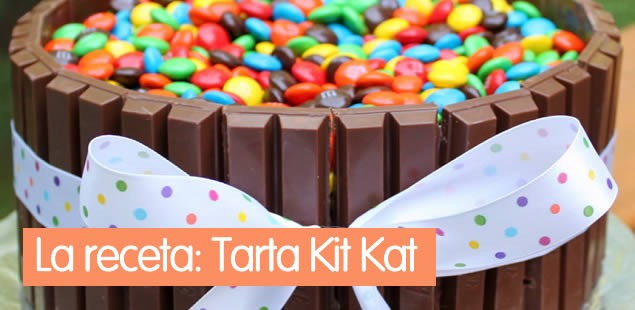 Tarta de chocolate Kit-Kat